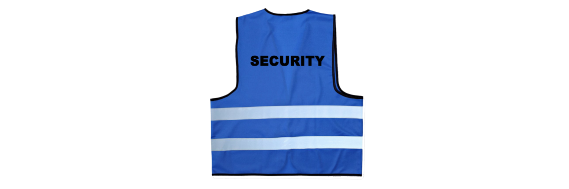 Warnweste blau Security